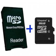 MS Pro Duo Adapter + MicroSD 16GB