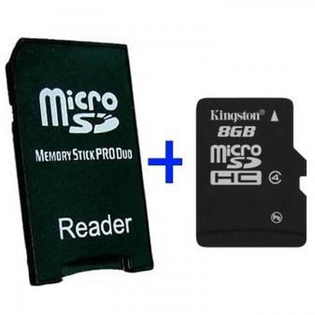 MS Pro Duo Adapter + MicroSD 8GB TARJETAS DE MEMORIA Y HD PSP 3000  7.00 euro - satkit