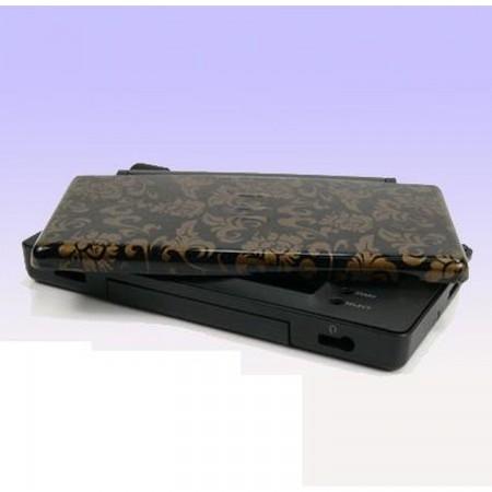 Carcasa Recambio para Nintendo DS Lite (FLORES DORADAS-FONDO NEGRO) TUNNING NDS LITE  5.00 euro - satkit