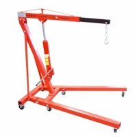 New Red 2 Ton Folding Hydraulic Engine Crane Stand Hoist lift Jack Wheel