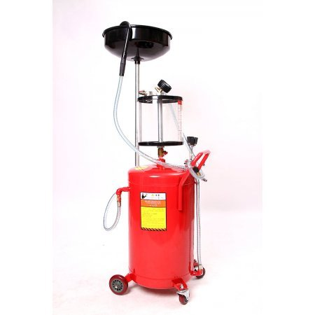 Waste Oil Drainer Extractor Portable Hydraulic Collecting Oil Machine 80L with Glass Tank