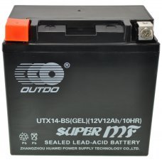 Motorcycle Battery YTX14-BS GEL BATTERY