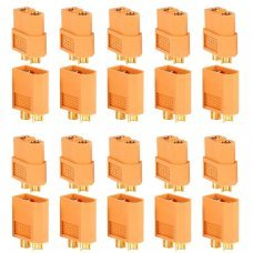 PACK 20 CONNECTORS XT60 (10 MALE + 10 FEMALE)