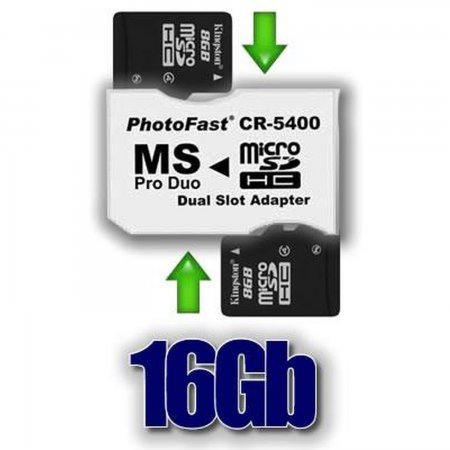 Pack Adapter 2xMicroSDHC  16GB MEMORY STICK AND HD PSP 3000  10.00 euro - satkit