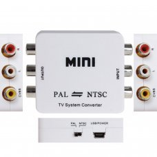 PAL/NTSC to PAL/NTSC Bi-directional TV Format System Converter Box Adapter