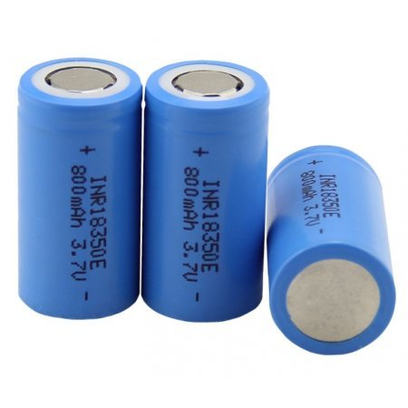 Rechargeable Battery 18350 800mAh 3,7V Lithium Li-ion Battery