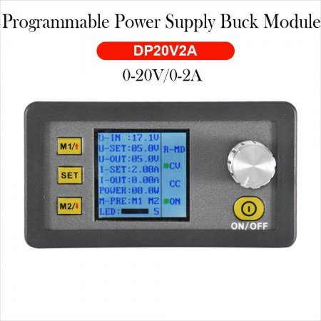 DP20V2A CVCC Programmable Control Step Down Power Supply Module LCD Display