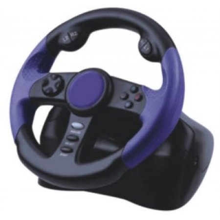PS2 Racing  Wheel With Pedal CONTROLERS & ACCESSORIES  19.80 euro - satkit