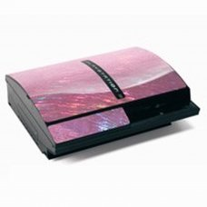 PS3 Console Skin Protector -Laser Pink
