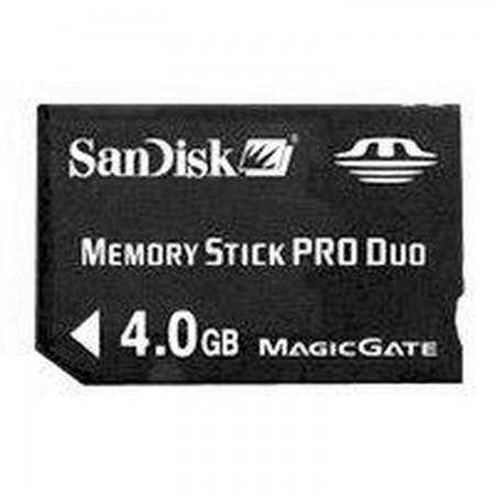 PSP Memory Stick Pro Duo 4GB Sandisk *ORIGINAL* MEMORY STICK AND HD PSP 3000  9.99 euro - satkit