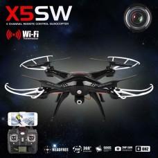 NEGRO - QUADCOPTER DRONE SYMA X5SW FPV Explorers 2.4GHz 4CH 6Axis Gyro RC CON CAMARA HD Y WIFI