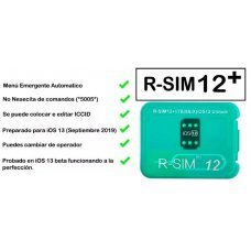 UNLOCK CARD R-SIM 12+ FOR iPhone5S / 6 / 6 / 6S / 7 / 8  and X bis iOS 11 and iOS12