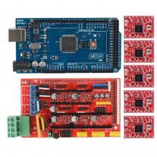 Pack  RepRap RAMPS 1.4 + Arduino Mega + 5 control paso a paso A4988