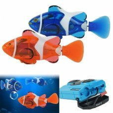 RC Mini Clown Fish Remote Control Infrared Ray Fish Electric Kids Toy Robofish