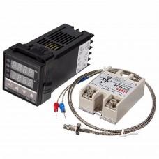 Control temperatura digital REX C100 + SSR 40A + SONDA K Termopar 0ª a 400º