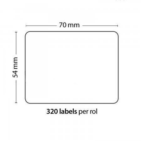 Roll of 320 Adhesive Labels 70mm*54mm For DYMO COMPATIBLE 99015 PACKING PRODUCTS  7.50 euro - satkit