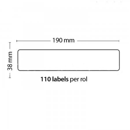Roll of 110 Adhesive Labels 190mm*38mm For DYMO COMPATIBLE 99018 PACKING PRODUCTS  3.70 euro - satkit