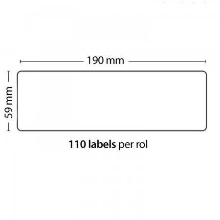Roll of 110 Adhesive Labels 190mm*59mm For DYMO COMPATIBLE 99019 PACKING PRODUCTS  3.00 euro - satkit