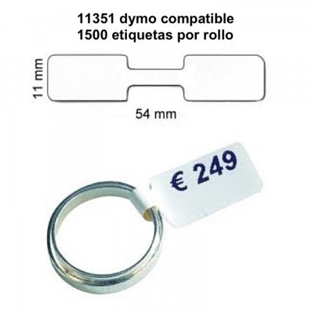 Roll of 1500 Adhesive Labels 54*11MM For DYMO COMPATIBLE 11351 PACKING PRODUCTS  4.85 euro - satkit
