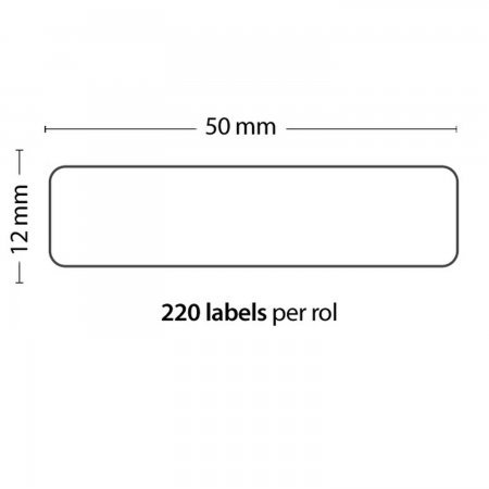 Roll of 220 Adhesive Labels 50*12MM For DYMO COMPATIBLE 99017 PACKING PRODUCTS  2.40 euro - satkit