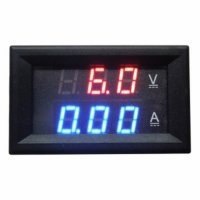 Red Blue LED DC 0-100V 10A Dual Digital Voltmeter Amperemeter Panel