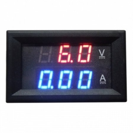 Red Blue LED DC 0-100V 10A Dual Digital Voltmeter Amperemeter Panel Voltmeters  7.00 euro - satkit