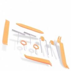 Kit 12pcs HF-007 Herramientas Plástico y Metal para Montaje/Desmontaje Equipo de Audio de Coche