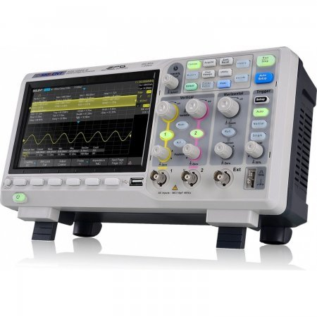 Siglent SDS1102X 2 channel DSO with 200 MHz bandwidth, 1 GSa / s and 14 Mpts memory depth. Oscilloscopes Siglent 329.00 euro - satkit