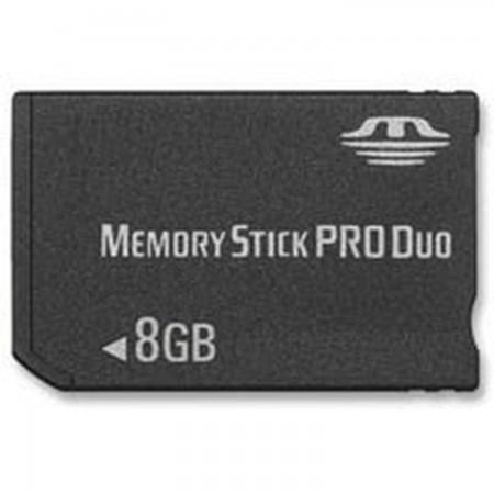 MEMORY STICK PRO DUO 8GB  (COMPATIBLE PSP) TARJETAS DE MEMORIA Y HD PSP 3000  18.99 euro - satkit