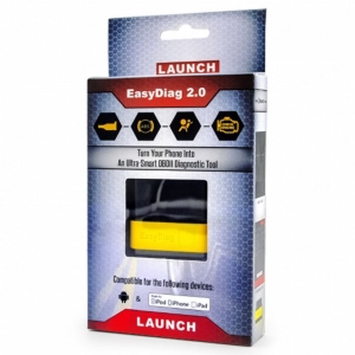 Launch X431 EasyDiag 2 0 / PLUS For Android/IOS OBDII Code Diagnostic  Scanner