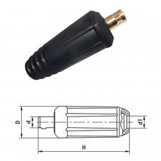 Male Plug for welding cable 10-25