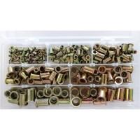 220pcs Galvanized Steel Vertical Rivert Nuts M3-M4-M5-M6-M8-M10