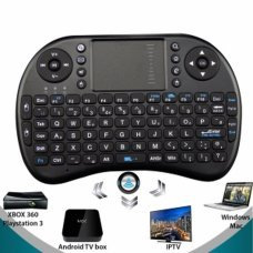 Teclado inalambrico con track pad mod T2 para minipc, android tv, media center