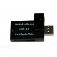 USB 2.0 Single MS PRO and MS PRO DUO Card Reader/Writer