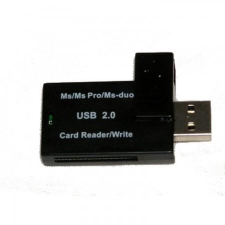 USB 2.0 Lector tarjetas memoria   para MEMORY STICK y MEMORY STICK PRO DUO TARJETAS DE MEMORIA Y HD PSP 3000  2.96 euro - satkit