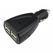 USB Car Charger Adaptor 4 sockets