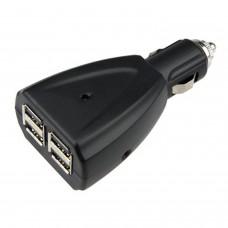 Cargador coche USB  4 puertos