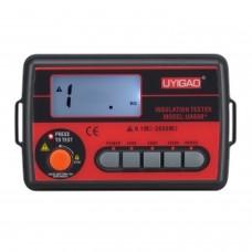 UYIGAO UA60B+ Medidor de aislamiento CAT III 1000 V / para resistencias de aislamiento hasta 2000 M&