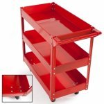 Tools 3-Level Garage Storage Heavy Duty Workshop Wheel Parts and Tools Trolley Cabinet
