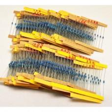 Pack 1220 Resistencias 1/4W -1% - 10 unidades de 122 valores diferentes de 0,1 Ohm a 4,7m Ohm