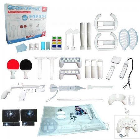 Wii motion plus 100in1 sports pack ACCESORIOS Wii  21.00 euro - satkit