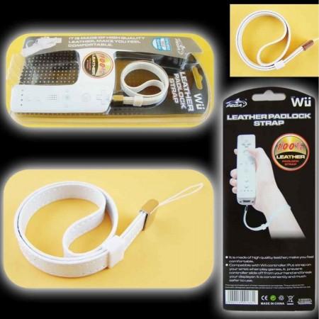 Correa Piel  para el mando Wii Remote [Blanca] MANDOS Wii  1.00 euro - satkit