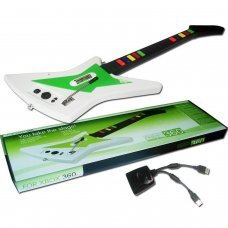 XBOX 360 Guitarra inalambrica  compatible con los juegos de la serie Guitar Hero y Rock Band
