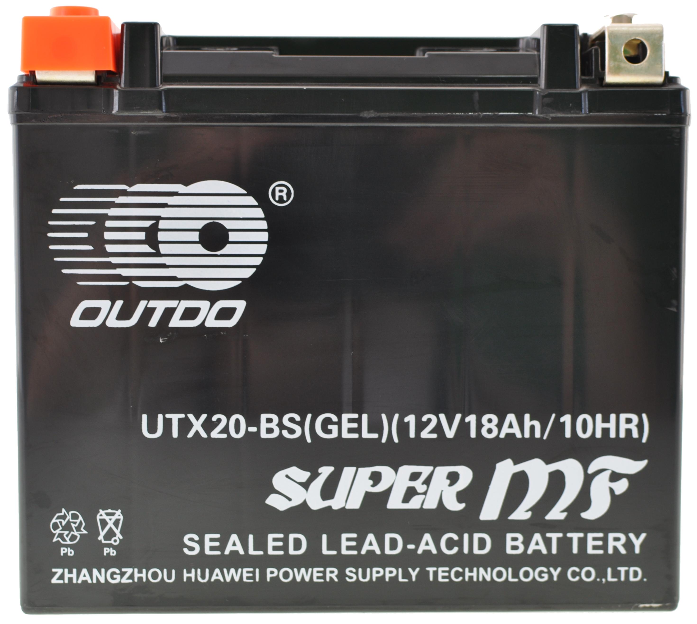 JMT GEL Batterie YTX20-BS Harley Davidson FXSTC 1340  1987