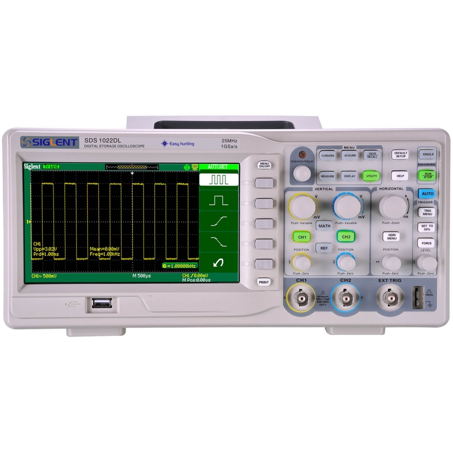 Osciloscopio Digital Siglent SDS1022DL 25mhz 5